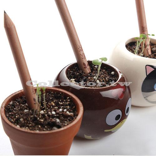【L17060303】種子鉛筆(彩芯款兩隻裝) 萌芽鉛筆 植物鉛筆 可種植鉛筆 辦公室禮品 羅勒 薄荷 桌上植栽