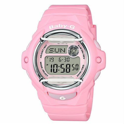 CASIOBABY-GBG-169R-4C柔和花卉女性流行腕錶