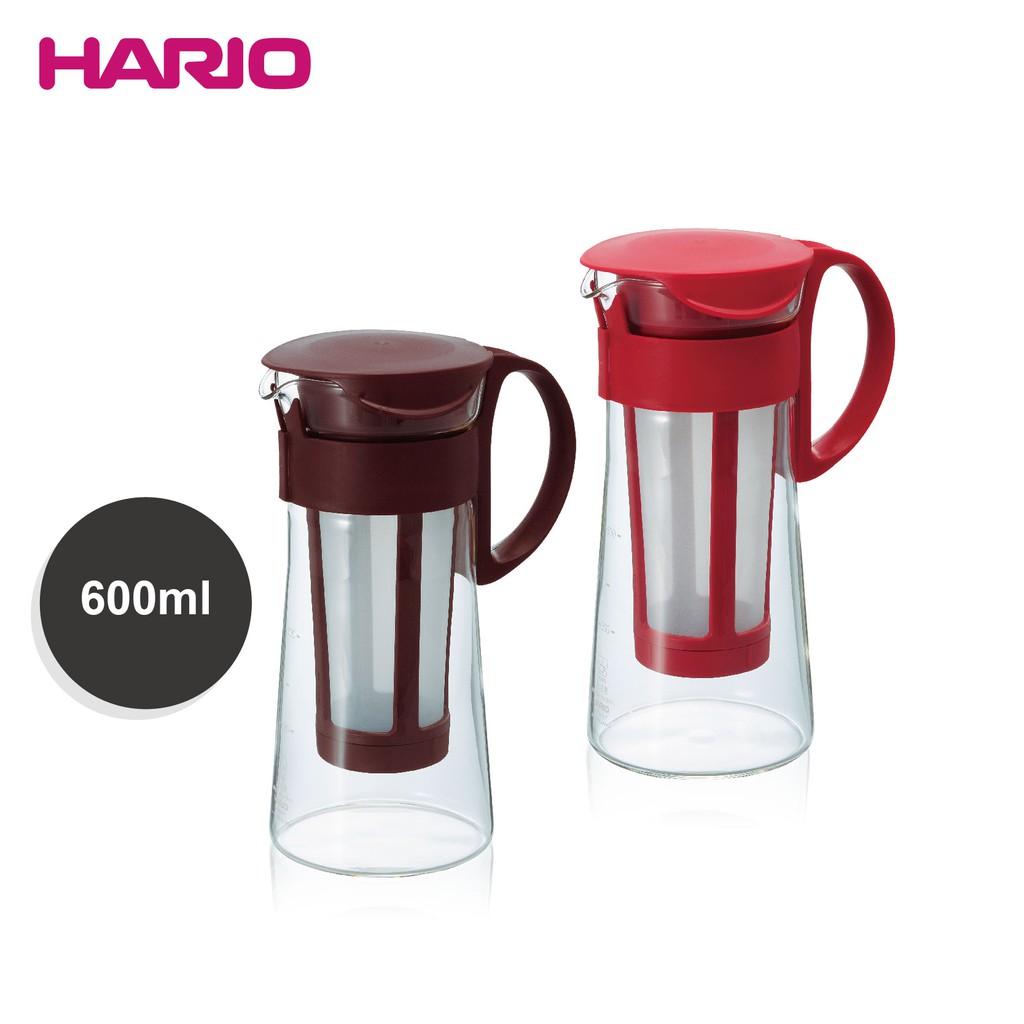 日本HARIO冷泡咖啡壺600ml(MCPN-7CBR咖啡/R紅 )