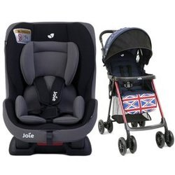 奇哥 Joie tilt 0-4歲雙向汽車安全座椅(汽座) 黑 +Joie New aire 輕便推車 (米字藍) 5980元