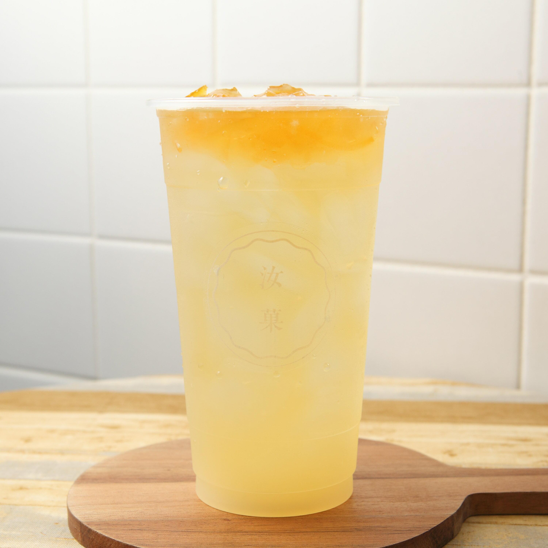 【汝菓】香柚綠茶 L (冷/熱) 700 c.c.★茶飲★水果風味★電子票券