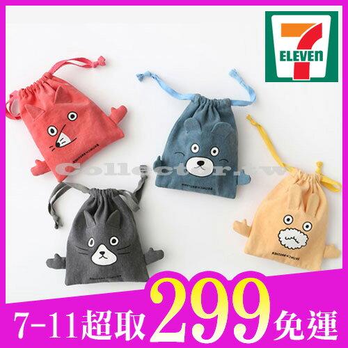 【7-11超取299免運】韓版俏皮卡通棉布束口袋-S號旅行收納袋行李抽繩袋衣服小物收納整理袋