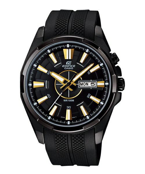 CASIO EDIFICE EFR-102PB-1A黑金流行運動腕錶/黑面43.6mm