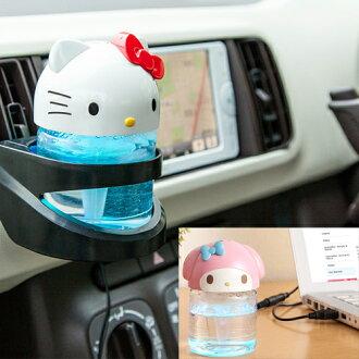 【真愛日本】15121400021 車用空氣洗淨機-KT立體紅結 三麗鷗 Hello Kitty 凱蒂貓 空氣清淨機