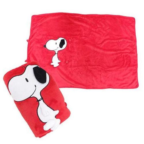 【日本進口正版】 SNOOPY 史努比 珊瑚絨毛毯 披毯 冷氣毯 膝上毯 珊瑚毯 小毯子 PEANUTS - 055254