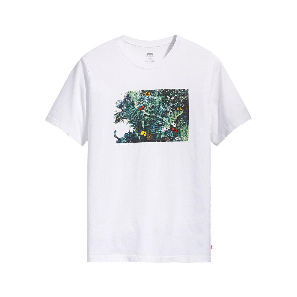 Levis 男款 短袖T恤  /  逗趣花草印花  /  220GSM厚棉  /  寬鬆休閒版型-AC 1