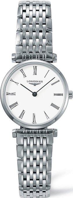LONGINES L42094116嘉嵐石英超薄優雅腕錶/白24mm