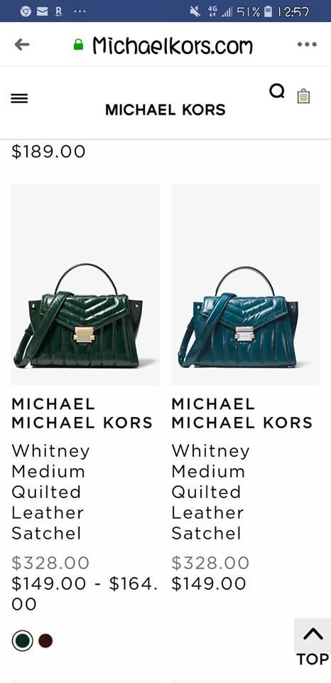 MK (專櫃款)羊皮土耳其藍蝴蝶-手提 /  肩 /  斜背包 7