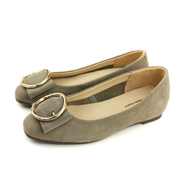 HUMANPEACE平底鞋休閒鞋蝴蝶結灰色女鞋H301no625