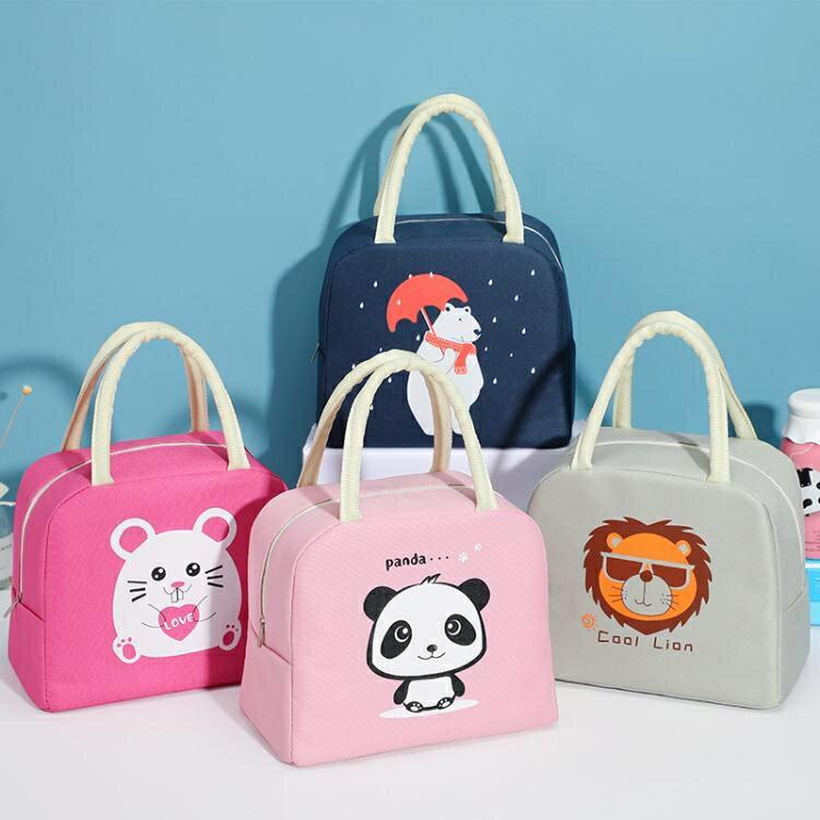 日式卡通飯盒袋便當包午餐包保溫保鮮帶飯包上學上班裝飯盒的袋子 新北購物城