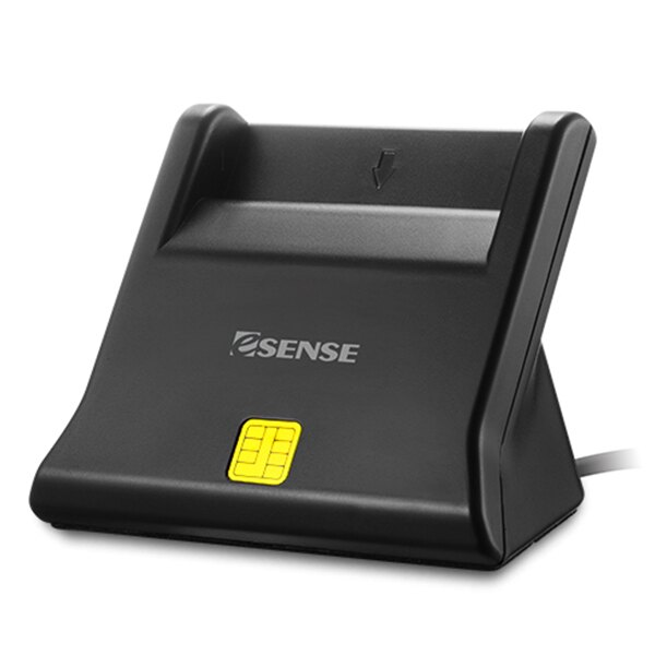Esense CR11 ATM 直立式晶片讀卡機(17-SCR110BK)黑色