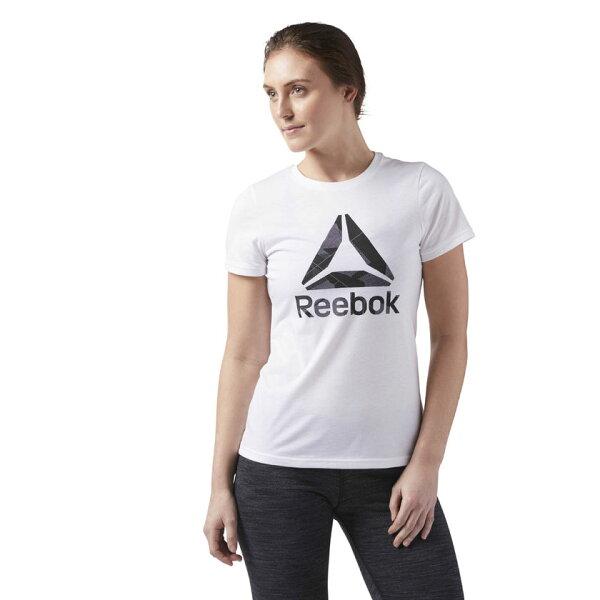 REEBOK女裝短袖訓練基本款船員領口RBLOGO白黑【運動世界】CE4490