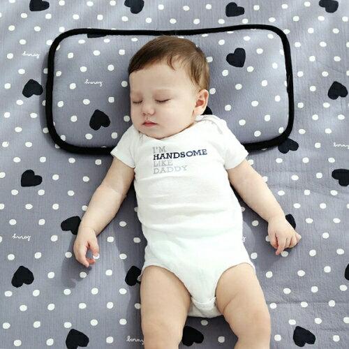 韓國【Borny】3D立體透氣嬰兒床墊- 灰底心 - 限時優惠好康折扣