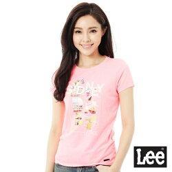 Lee 城市短袖T恤-女-粉