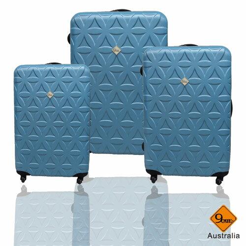 ✈Gate9花花系列ABS霧面輕硬殼三件組旅行箱 / 行李箱 1