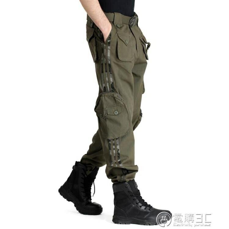 戶外情侶長褲 軍迷褲 多口袋休閒寬鬆男女戰術褲工裝褲