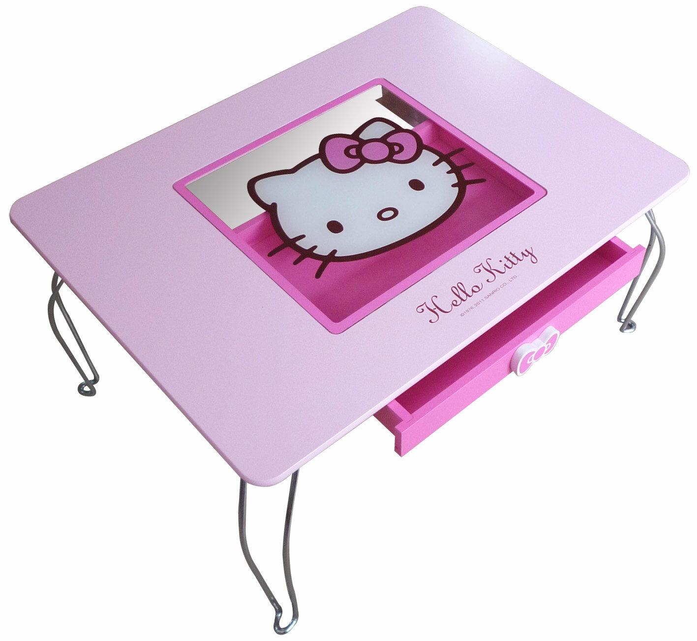 【真愛日本】11102800002 玻璃和式桌-粉紅 三麗鷗 Hello Kitty 凱蒂貓 桌子 和室桌 書桌