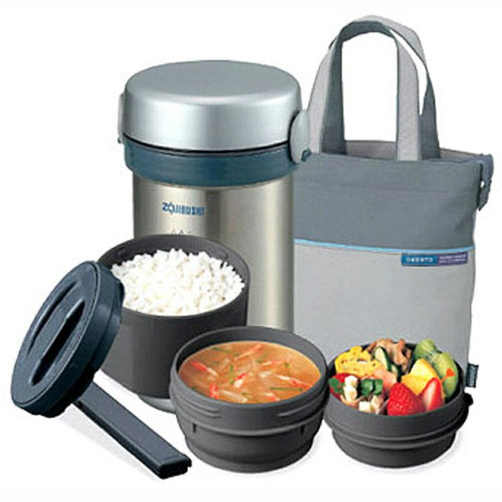 【象印】1.5碗飯附提袋不鏽鋼真空保溫便當盒(SL-NC09)
