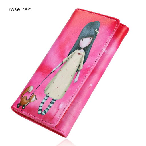Synthetic Leather Wallet Card Holder Cute Print Ractangle Purse e3ab325249e36325c0d891536afc8b70