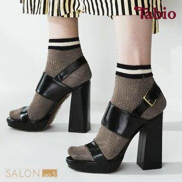 【靴下屋Tabio】休閒運動風條紋亮蔥短襪日本職人手做