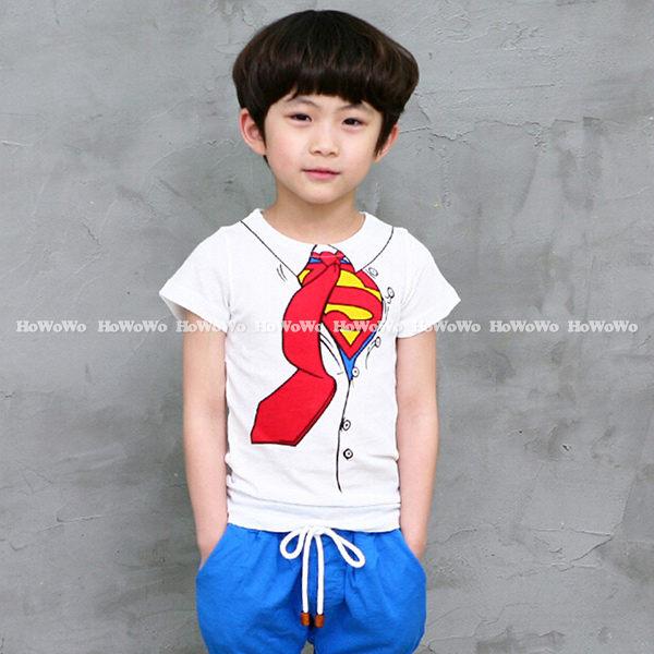 短袖T恤 假領帶印花中童上衣 AL0046 好娃娃