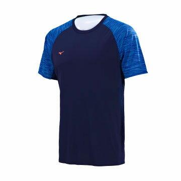 J2TA750614(深丈青)SOLARCUT熱遮蔽、抗紫外線男路跑短T恤【美津濃MIZUNO】