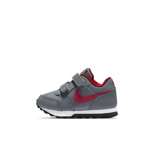 Nike MD RUNNER 2 TDV 童鞋 小童 慢跑鞋 魔鬼氈 復古 灰 紅 【運動世界】 806255-005【12/1-31 單筆滿2000結帳輸入序號 XmasGift-outdoor 再..