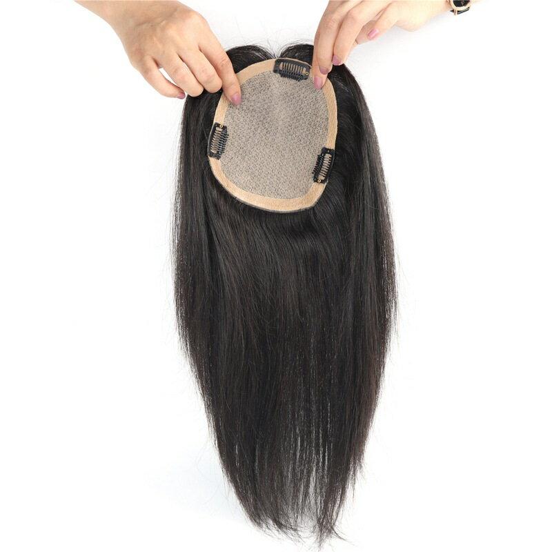 假髮片真髮絲補髮塊-大面積遮蓋白髮20cm女假髮73vm53【獨家進口】【米蘭精品】
