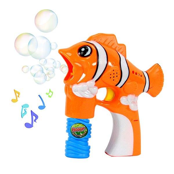 【888便利購】小丑魚造型連續式電動泡泡槍(有LED燈+音樂)