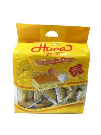 HURA 夾心蛋糕 390g (香草椰子、鮮奶油、草莓牛奶) 1