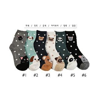 韓國動物造型短襪-多款任選 (SOCK-060-C)
