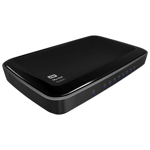 WD My Net Switch - 8 Port Gigabit Ethernet Network Switch - HD Media Switch f118d5068e01e964a5de50305d182593