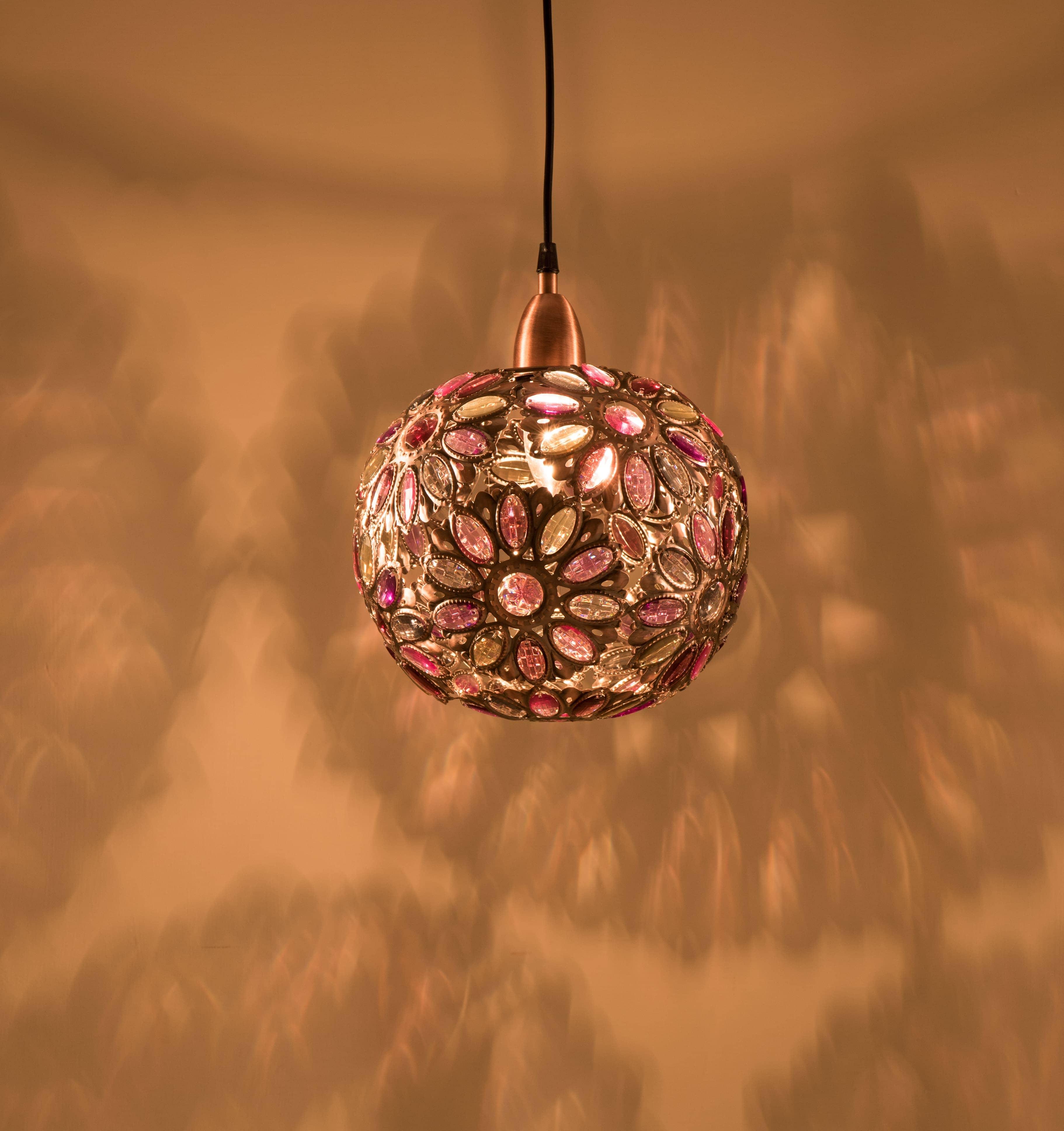 紅銅波斯蘭菊吊燈-BNL00087 2