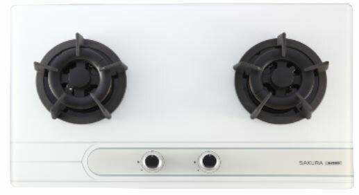 【品僑企業行】櫻花 G2522GB(黑色)/G2522GW(白色)二口小面板易清檯面爐