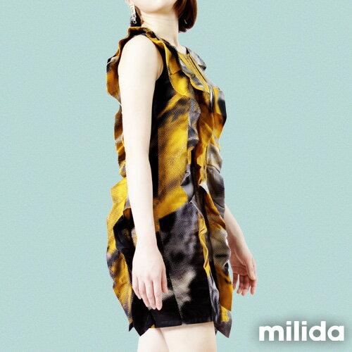 【Milida,全店七折免運】-夏季洋裝-無袖款-造型洋裝 1