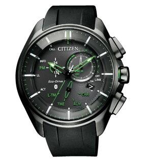 CITIZEN星辰BZ1045-05E藍芽光動能時尚限量鈦金屬腕錶綠48mm