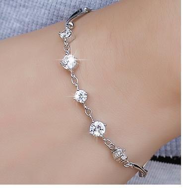 時尚飾品 銀傾城紫水晶手鏈 女款可愛多層手鏈