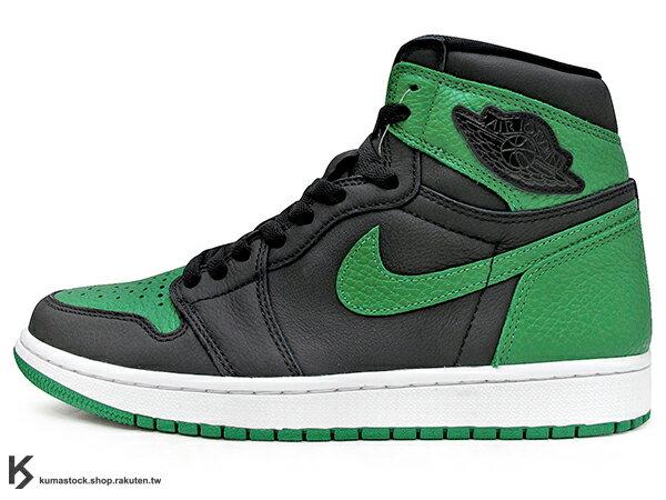2020 經典復刻款 九孔鞋洞 NIKE AIR JORDAN 1 RETRO HIGH OG PINE GREEN BLACK 黑綠 CELTICS 波士頓 塞爾提克 黑綠腳趾 AJ (555088-030) ! 0