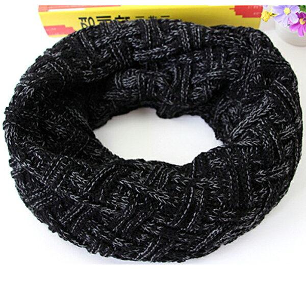 糖衣子輕鬆購【DS209】韓版時尚潮流保暖井字紋男女百搭毛線針織圍脖圍巾