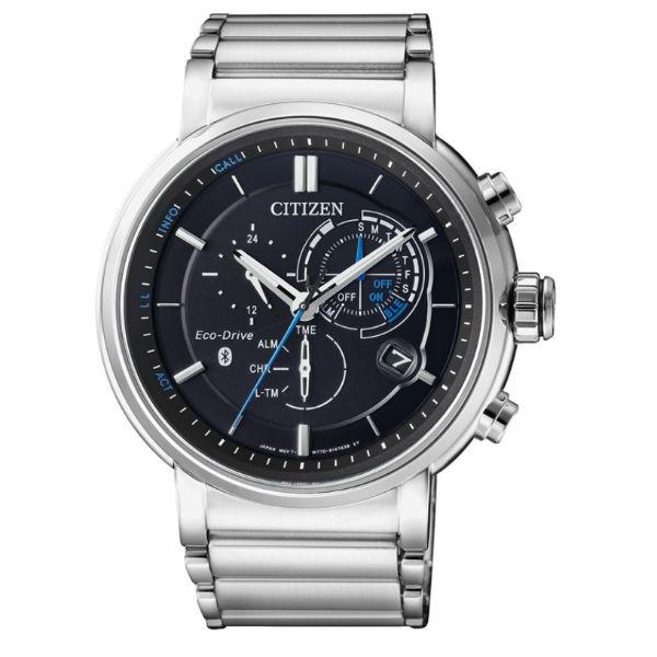 CITIZEN星辰錶BZ1001-86E 新世代藍芽限量光動能腕錶/銀45mm