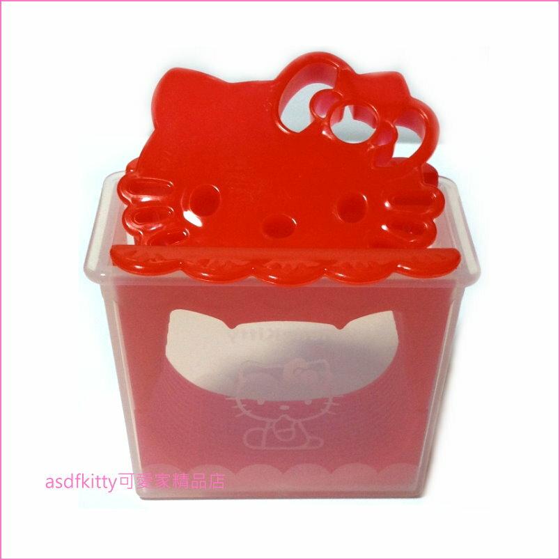 asdfkitty可愛家☆KITTY大臉飯糰模型含起司壓模-日本正版商品