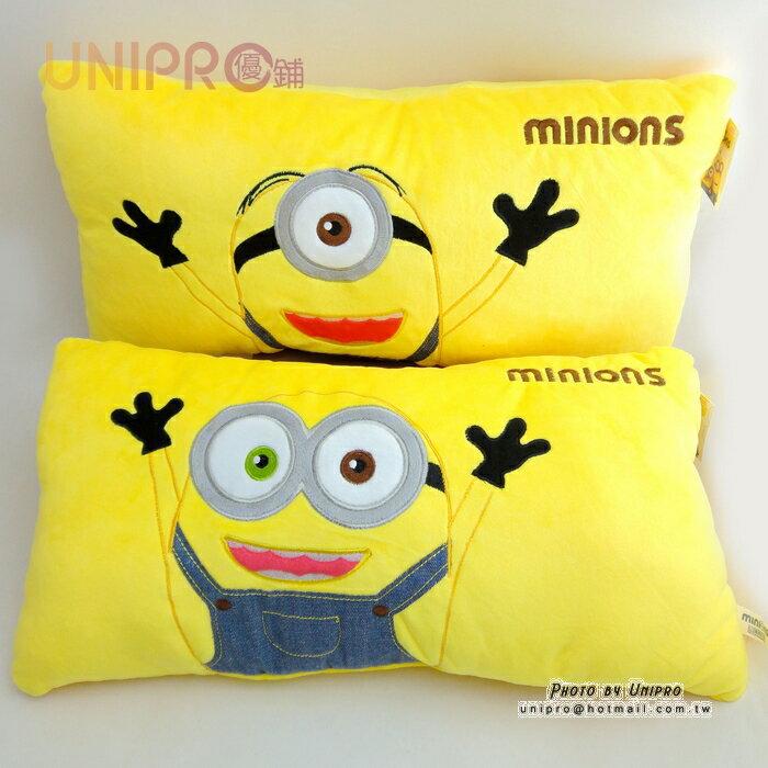 【UNIPRO】小小兵 Minions 史都華 蘿蔔 雙人枕 長枕 靠枕 禮物 神偷奶爸 正版授權