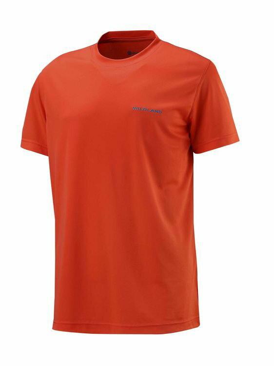 【【蘋果戶外】】荒野 W1626-76 亮橘色 WildLand 男 疏水紗素色短袖POLO衫 吸濕排汗 運動上衣 休閒 運動 快乾透氣 輕薄舒適 大尺碼