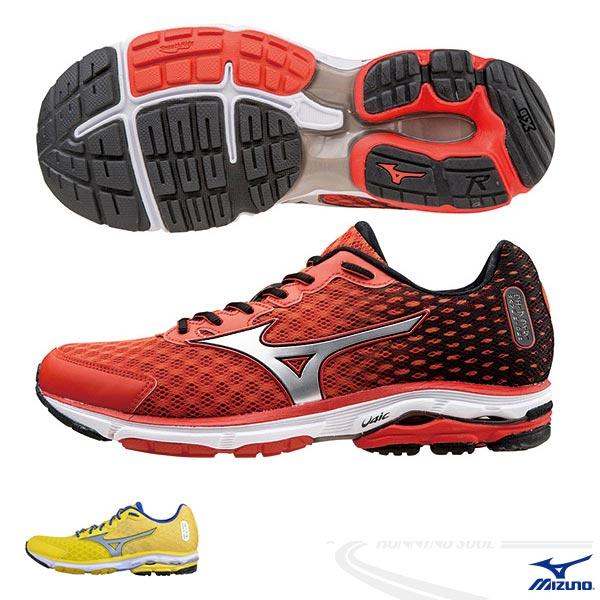 MIZUNO 美津濃 WAVE RIDER 18 男 路跑 慢跑鞋(紅*黑*銀)2015年暢銷鞋款