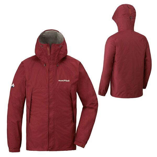 【【蘋果戶外】】mont-bell1128600紅棕日本男防水透氣外套類Gore-tex防水外套雨衣風衣風雨衣