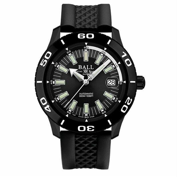 BALL 波爾錶DM3090A-P4J-BK Fireman專業潛水腕錶/黑面42mm