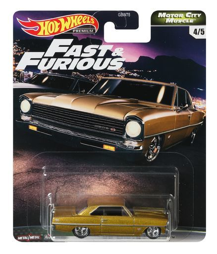 《風火輪Hot Wheels》 Premium Fast & Furious 玩命關頭 Fast V8(1套五入) 東喬精品百貨