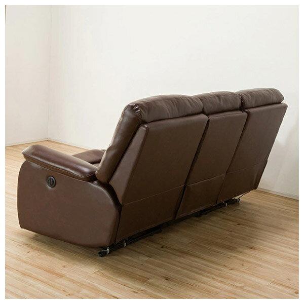 ◎(OUTLET)全皮3人用頂級電動可躺式沙發 BELIEVER ROYAL DBR 福利品 NITORI宜得利家居 4