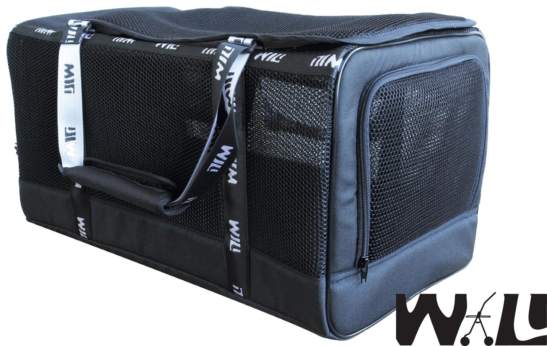 【WILL設計+寵物用品】WB-03款加大極透氣款外出包(忍者黑)