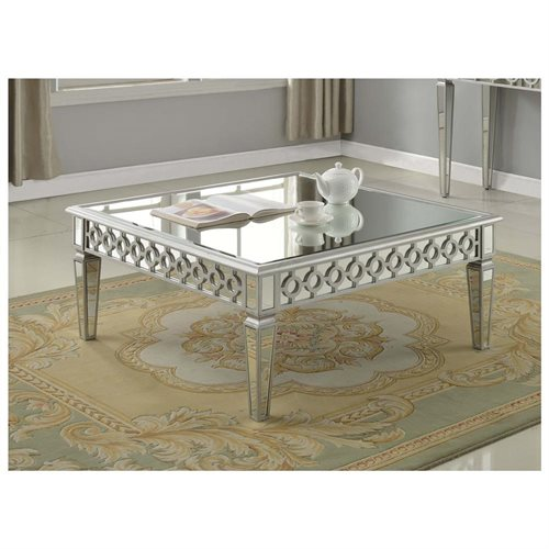 New T1840 Sophie Silver Mirrored Square Coffee Table 0 For Your Home - Review square coffee table Plan